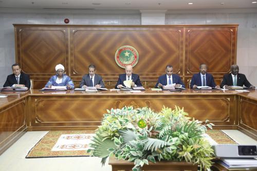 26 12 2019 M00 00 0 2 mauritanie le conseil des ministres s est réuni ce jeudi au palais présidentiel à Nouakchott