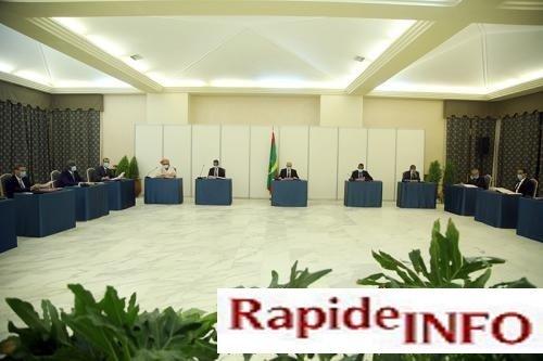30 04 2020 Communique Conseil des ministres réuni jeudi au palais présidentiel à Nouakchott sous la présidence de Mohamed Ould Cheikh El Ghazouani Président de la République