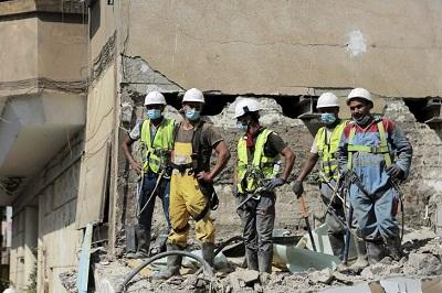 ouvriers batiment Caire 29 juillet 2020 0
