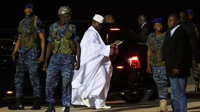 yahya jammeh lors de son depart de gambie le 21 janvier 2017