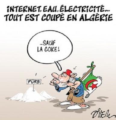 caricature algerie coke