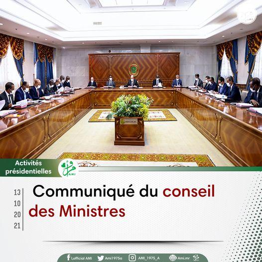 mauritanie nouakchott communique conseil des ministres 13 10 2021